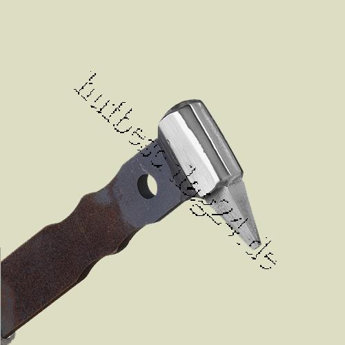 Marteau A Etamper  Flatlandforge E weld Handle